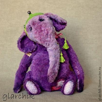 Фиолент слониха - фиолетовый,слон игрушка,друзья тедди,тедди,коллекционная игрушка