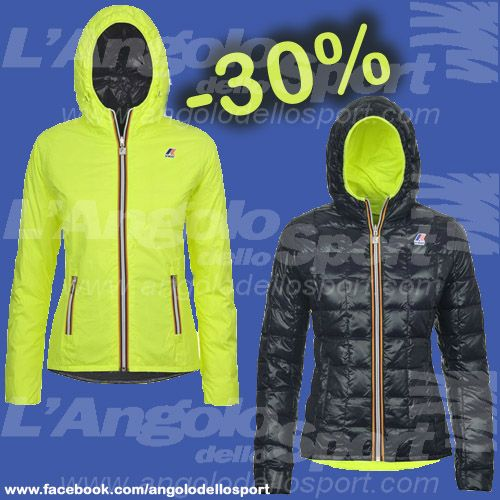 #Kway donna LILY THERMOPLUS DOUBLE FLUO Nylon/piuma trapuntata €340 -30% €238 V.G.Cardano 74 http://buff.ly/1dnWO8N