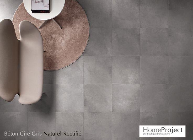 Carrelage Béton Ciré Gris 60x60 Rectifié - HomeProject