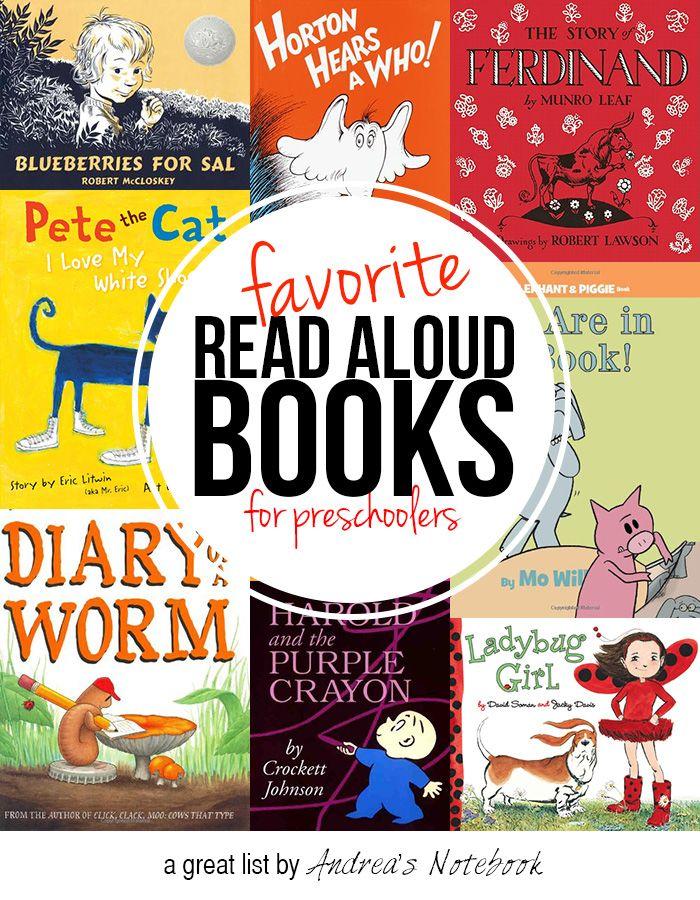 favorite read aloud books for preschoolers. GREAT list!