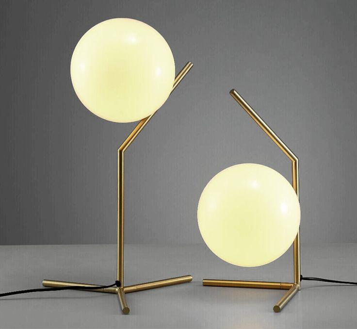 圆形灯罩ICQ新奇特造型时尚现代简约装饰照明书桌台灯高档床头灯-淘宝网