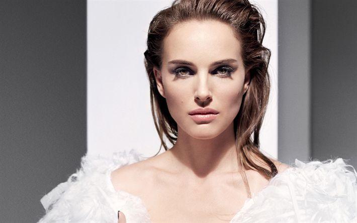 Lataa kuva Natalie Portman, Amerikkalainen näyttelijä, muotokuva, ruskeaverikkö, kaunis nainen