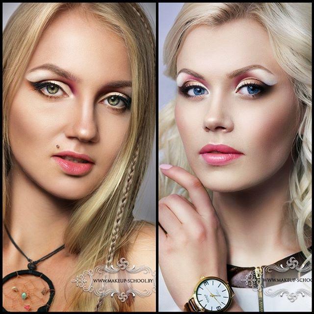 альтернативный макияж для блондинок Анастасия Александрович