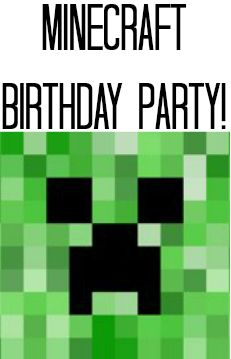 Minecraft Birthday party Everything u need!!!!!  Free invite printables, thk u's, minute to win it games w mine craft spin, etc!!