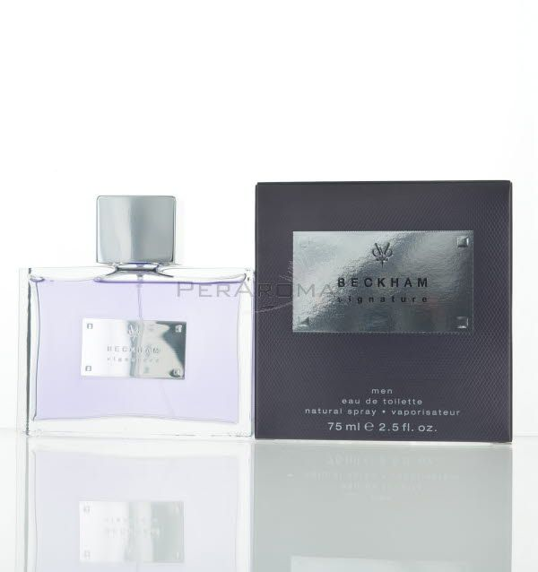 David Beckham Perfume It opens with notes of mandarin watermelon and sea notes. The heart includes South African bush Lantana blossom, cypress and juniper, while the base encompasses oakmoss, white amber and patchouli. www.maxaroma.com fragrance men david-beckham-signature-for-men pid 9886 3