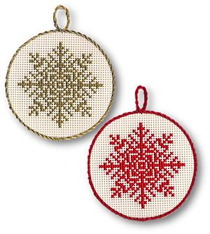 Snowflake Ornaments  I think these need a little bling! I would use some beads to jazz them up