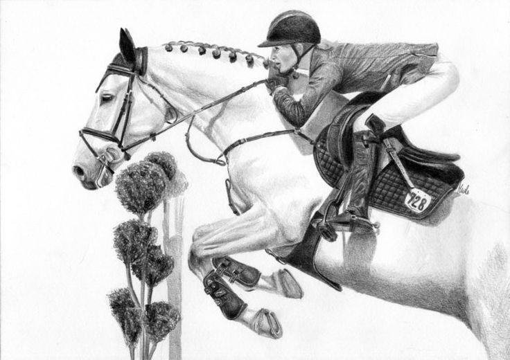 Rysunek konia w skoku.