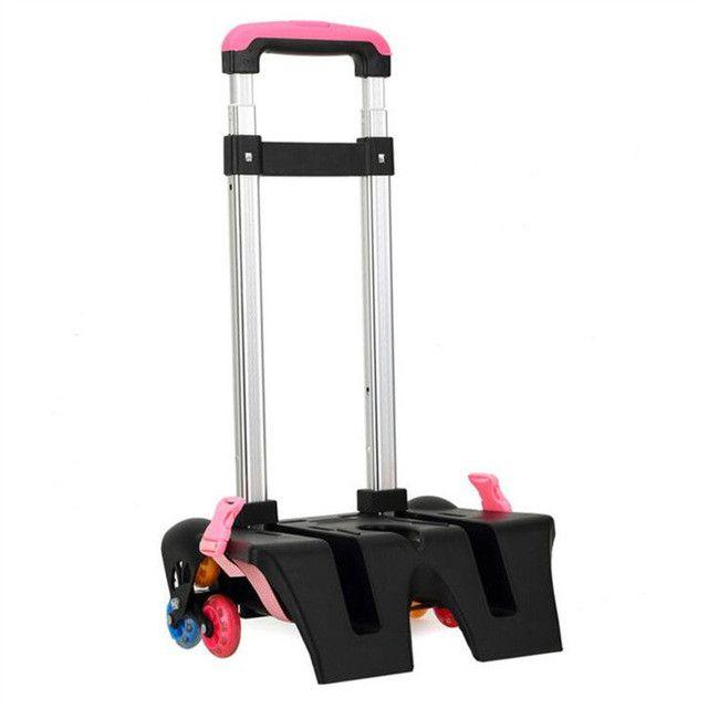2017 NEW 3 Wheel Fold Pull Rod Bracket Roll Cart Trolley School Bags easy climb mochila infantil rodinha mochilas school kids