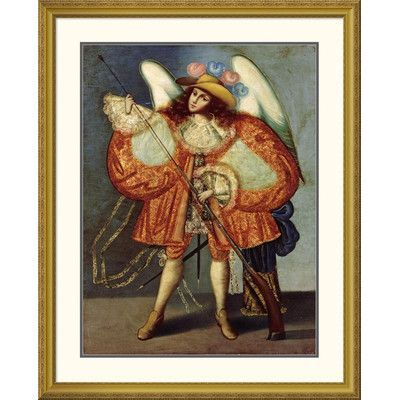 "Global Gallery 'Arcangel Con Arcabuz' Framed Painting Print Size: 46"" H x 37.15"" W x 1.5"" D"