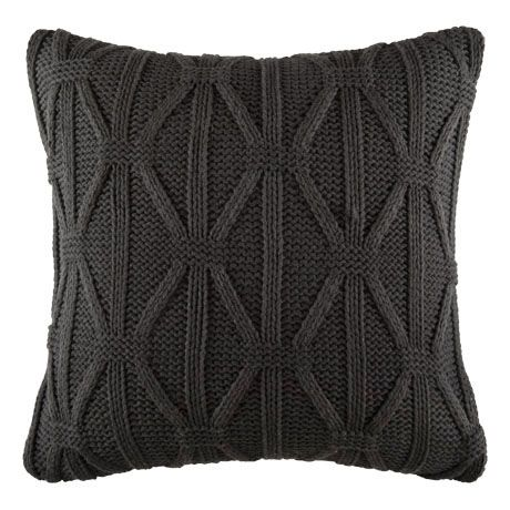 Lattice Cushion 50x50cm  Charcoal