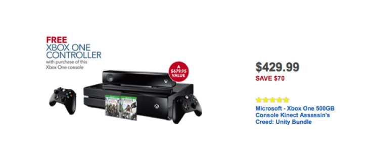 Xbox One Best Buy Black Friday 2014 Deal Tops Offers