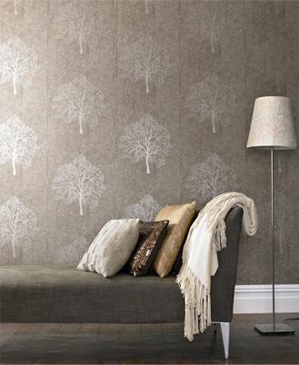 Enchant' wallpaper (shown in Golden Brown) by Graham & Brown.