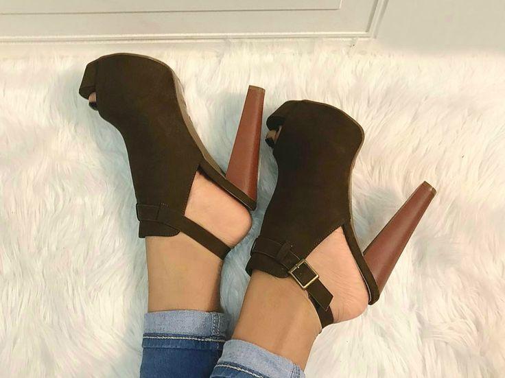 Sling Back Strap Peep Toe Heels