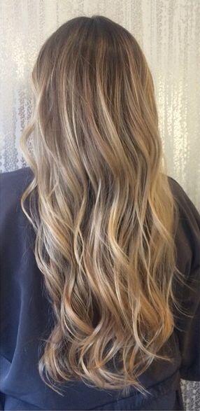 Wheat highlights on dark blonde hair