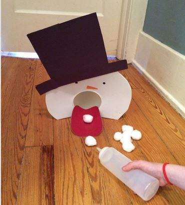 Pinterest Pin of the Week: Snowman Snowball Game - pinned by @PediaStaff –…