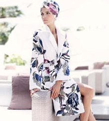 Luna Di Giorno Stampa Collection Bathrobe & Turban