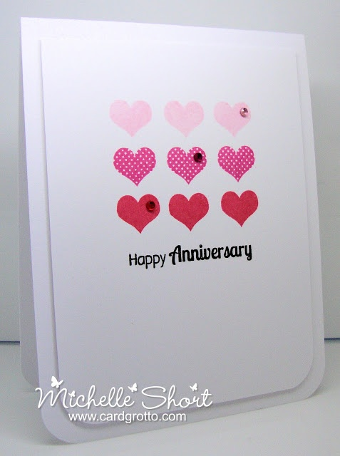 The Card Grotto: Anniversary Hearts