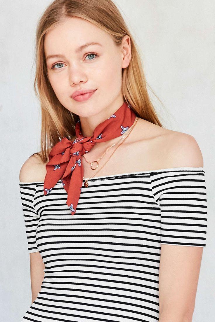 Pattern Neck Tie Scarf Summer Scarves Scarf Styles