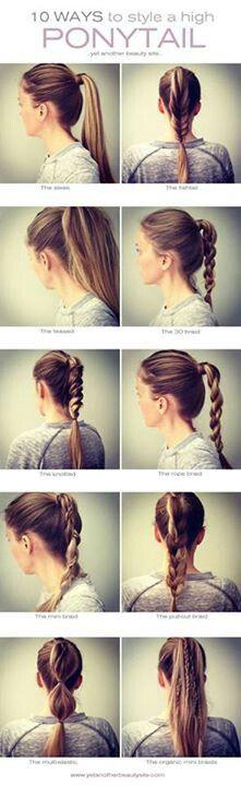 style ponytail - Poux Sur Cheveux Colors