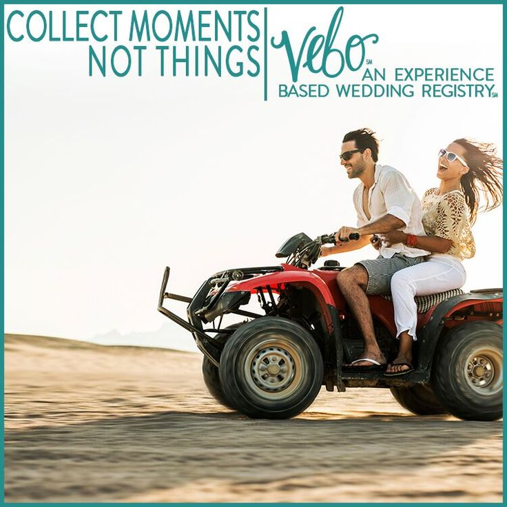 vebo is an experience based wedding registry skip the