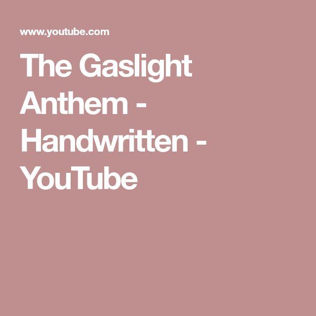 The Gaslight Anthem - Handwritten - YouTube