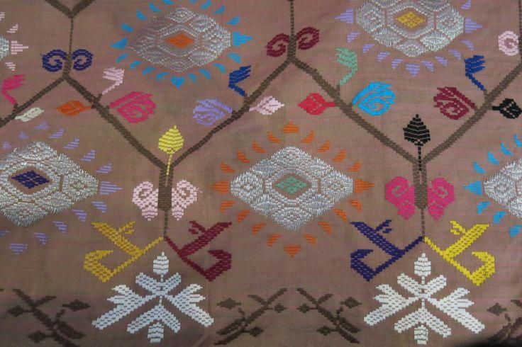 Embroidered batik. Indonesia.