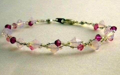 Entwined Swarovski Bracelet:  I would love to make this in a larger version for a fairy crown.