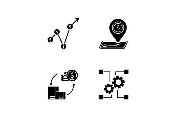 Country Economics Black Glyph Icons Glyph Icon Glyphs Photoshop Design