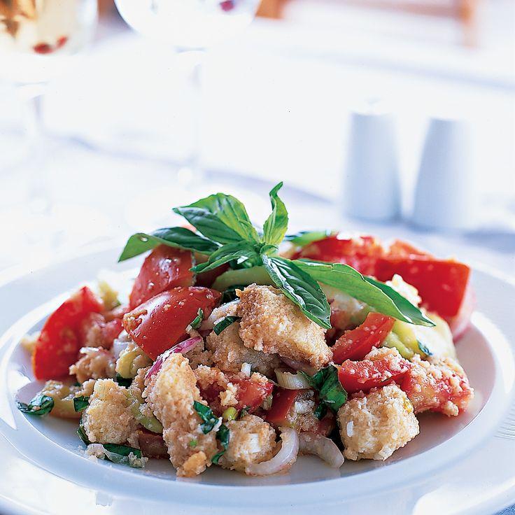 Panzanella Salad with Walnut Bread