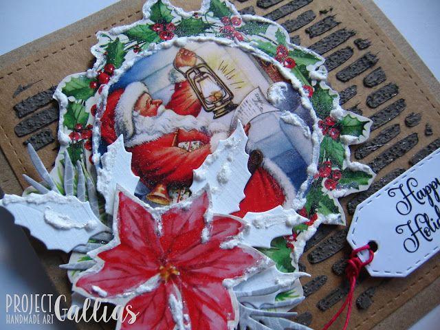ProjectGallias dla Agateria Craft - Kartka z Mikołajem - A card with Santa
