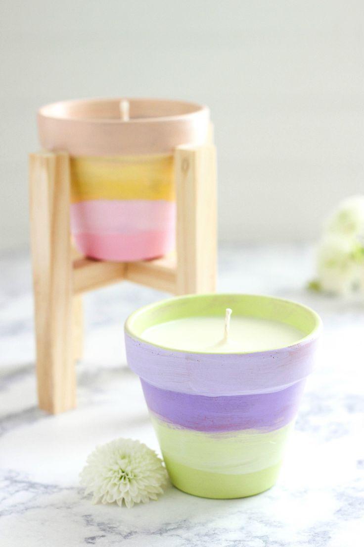 Diy Terracotta Citronella Candles Citronella Diy Geschenke Fur