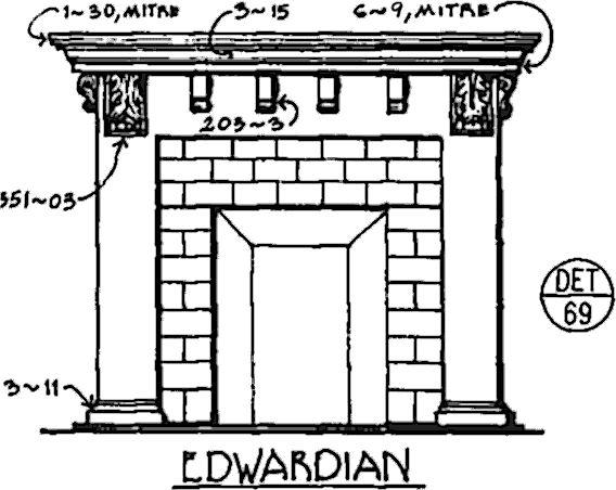 Edwardian Fireplace Surround - Det. 69