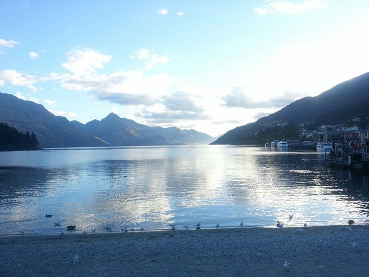 Ivan is exploring the south island and captured this shot of the sunset in #Queenstown! # internship #newzealand #student #travel