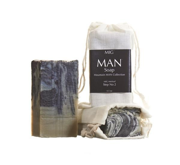 Cover all your basics with one product. Get good, clean hair + body, and a close shave all without drying out your skin. This soap is about as manly as it gets... we've heard stories of men wrestling bears naked in the frigid mountains of Colorado... and