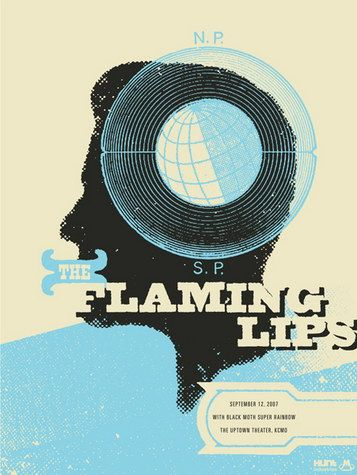 The Flaming Lips Concert Poster by Vahalla Studios