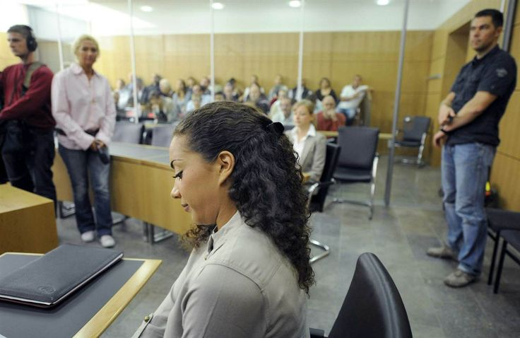 German pop star Nadja Benaissa was found guilty of knowingly infecting an ex-boyfriend with HIV by having unprotected sex without telling him of her status. The 28-year-old, who performed in the band No Angels, received a two-year suspended sentence. Here, she waits for the beginning of another session of her trial in the district court house in the western German city of Darmstadt on Aug. 25