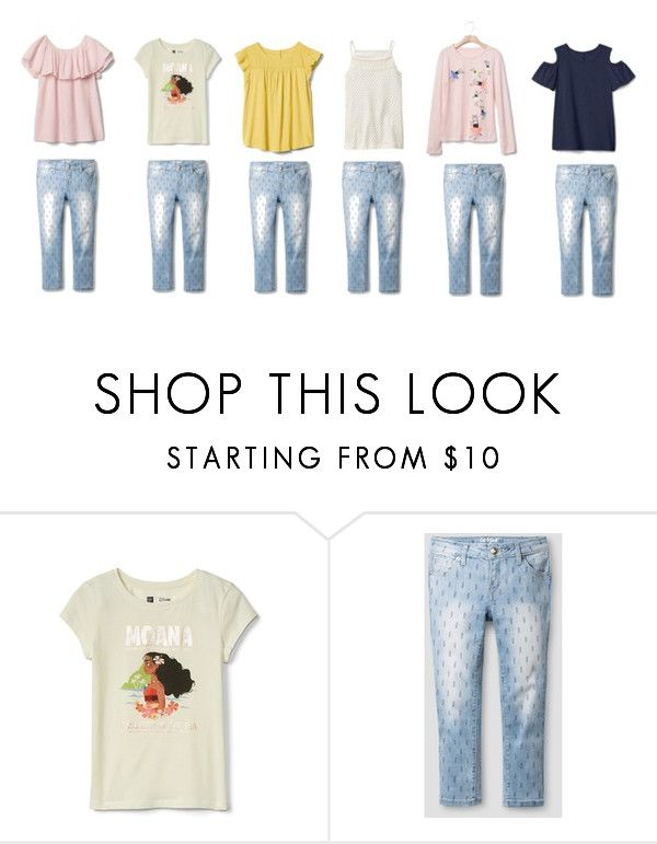 """KIDS1"" by natyapshopper on Polyvore featuring moda, Disney y Gap"