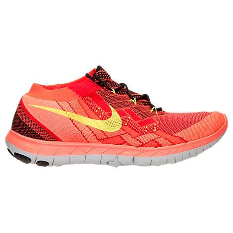 Nike Free 3.0 Flyknit Black/Volt/University Red/Bright Crimson