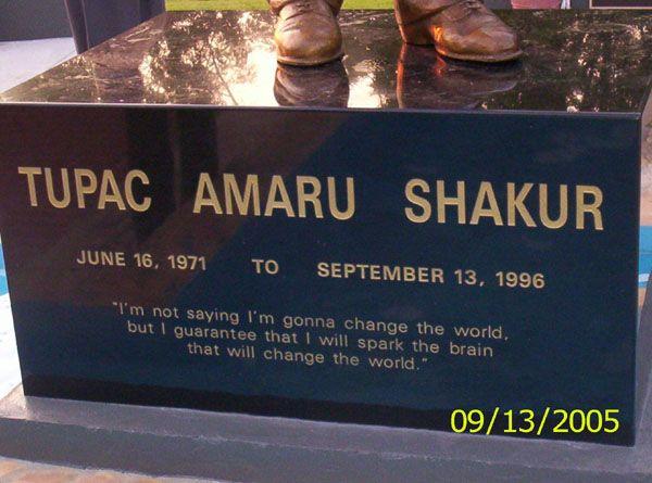 Tupac Shakur Funeral | Tupac Shakur statue