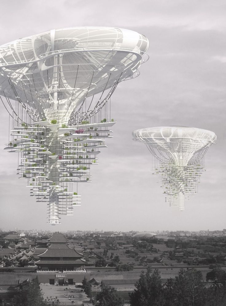 skyscraper generates green ideas  'light park floating skyscraper ' by ting xu, yiming chen, china, third place winner all images courtesy of eVolo