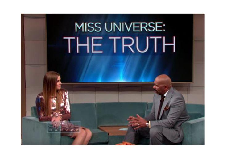 Miss Colombia vai ao programa de Steve Harvey, o apresentador que fez o anúncio errado