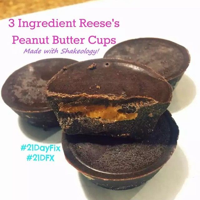 21 Day Fix: 3 Ingredient Chocolate Peanut Butter Cups – made with Shakeology! | Simply Gourmet in Southie