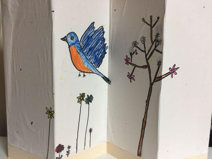 Folding screen_flower & bird 2017   by AYNnE