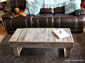 Barn Wood Coffee Table, http://bec4-beyondthepicketfence.blogspot.com/2015/02/barn-wood-coffee-table-and-change.html