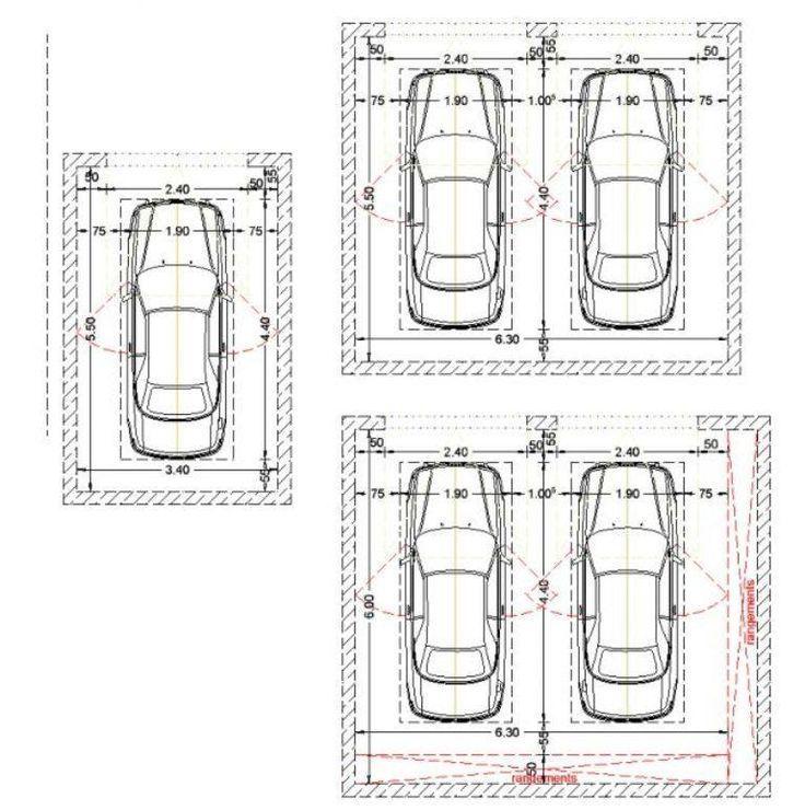 Resultado De Imagen De Medida Cochera 1 Auto Parking Design Garage Design Carport Designs