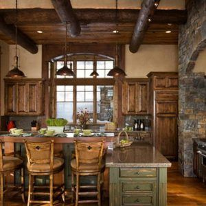 Rustic Solid Wood Kitchen Cabinets