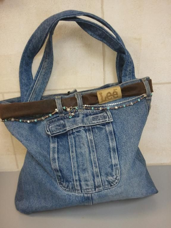 Looking for sewing project inspiration? Check out Recycled Jean Purse by member djd1959.