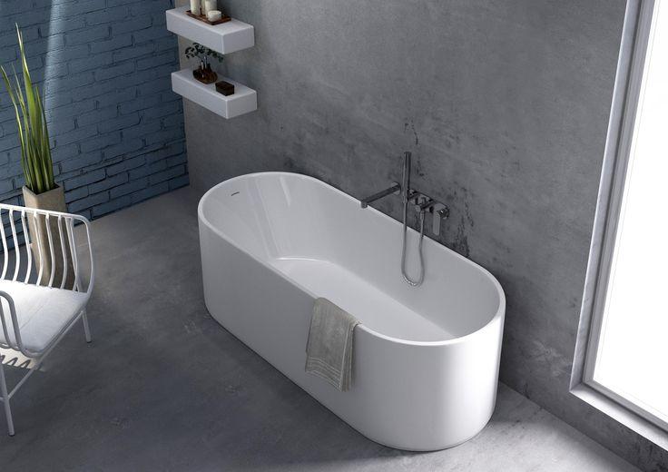 Vasca da bagno ovale in Pietraluce® OVAL Linea Oval by CERAMICA FLAMINIA   design Giulio Cappellini