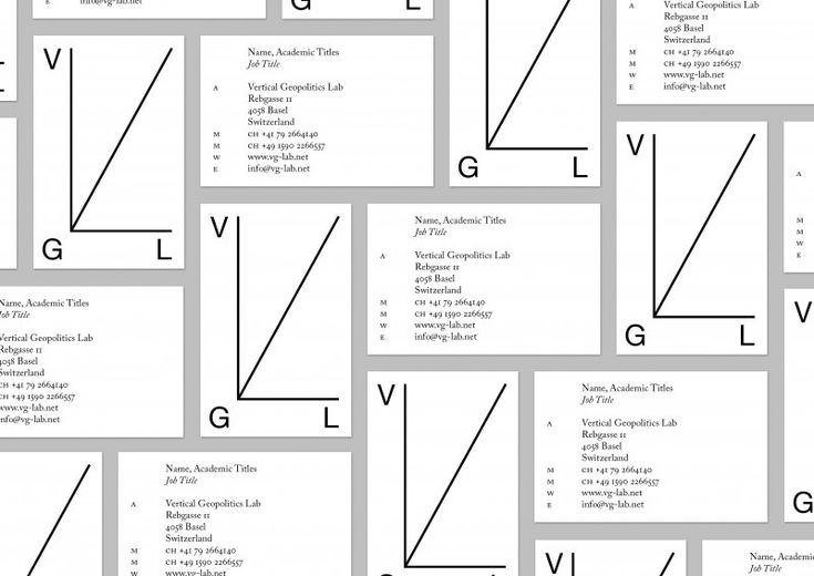 Visuelle Identität für das Vertical Geopolitics Lab. | Corporate Identity Portal