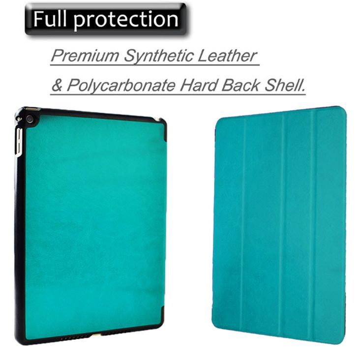new pad air 2 (2014') case for Ultra Slim apple iPad air 2 smart cover case with Magnetic Sleep&awake for ipad 6 protect case